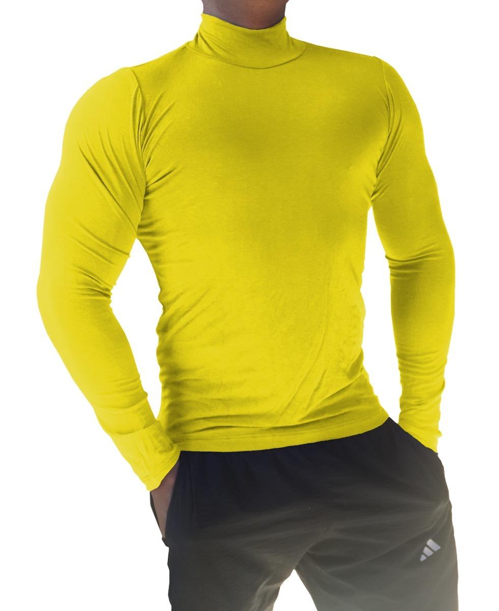 camisa gola alta clássica masculina viscolycra. Carregando zoom. 45b765772576a