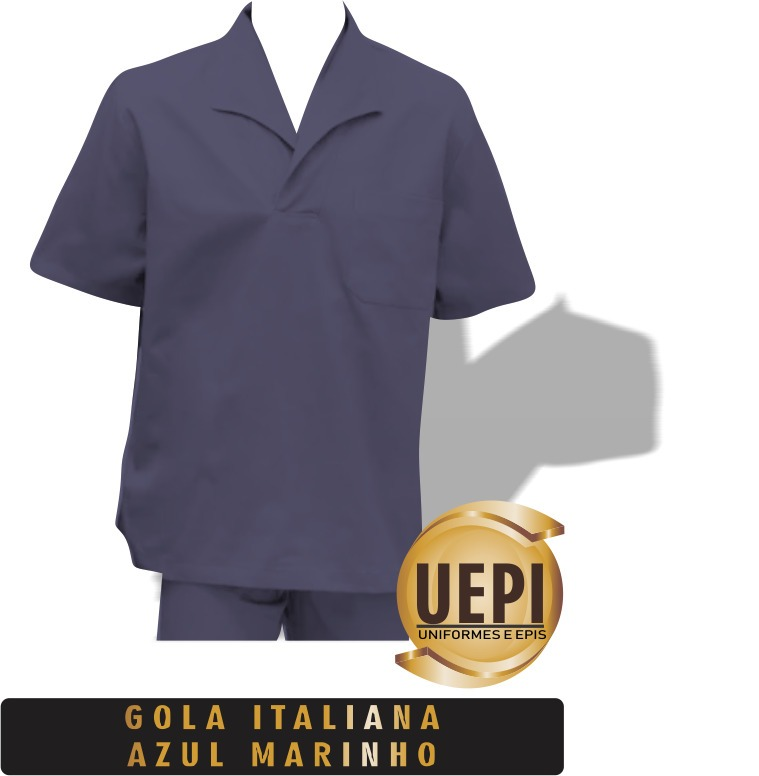 d72ebb6e23833 Camisa Gola Italiana Brim Eletricista Motorista - R  34