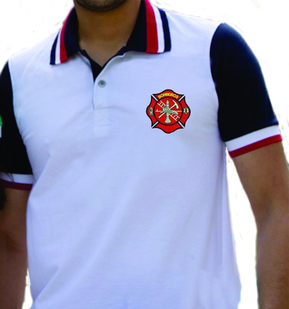 camisa gola polo (bombeiros) bordada malha piquet. Carregando zoom. fab4b654d6dd5