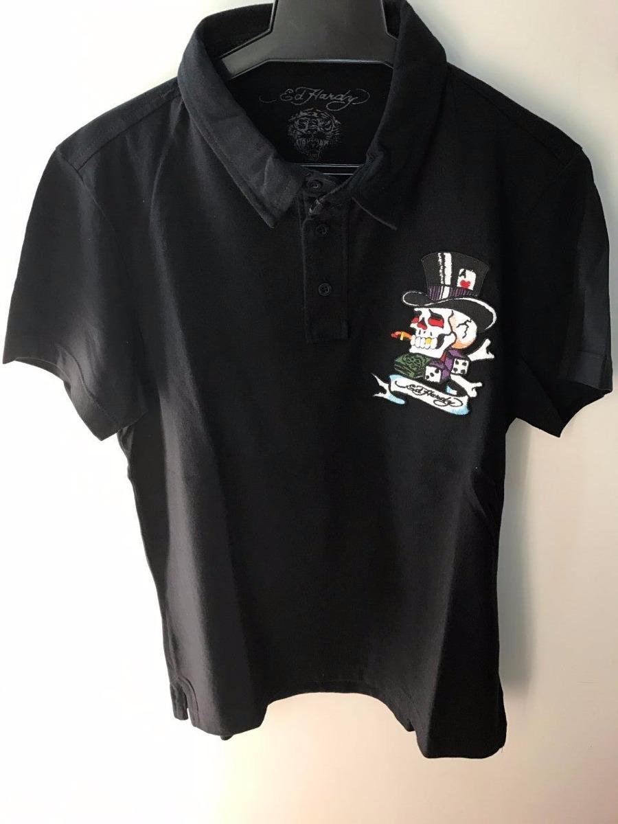 camisa gola polo ed hardy preta masculina christian audigier. Carregando  zoom. 17a3624a5e96c