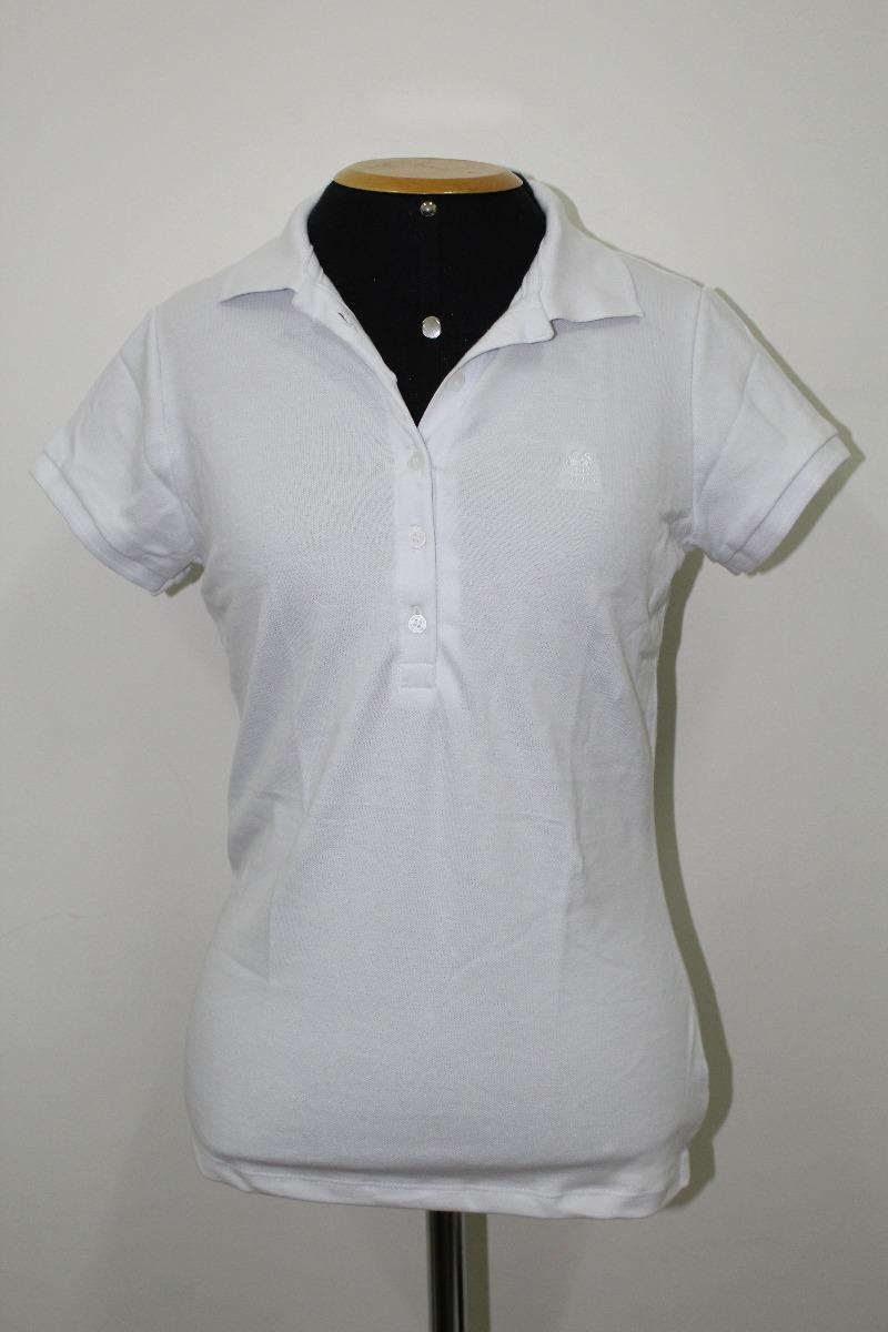 8249067350e6f camisa gola polo feminina branca polo wear p000047730. Carregando zoom.