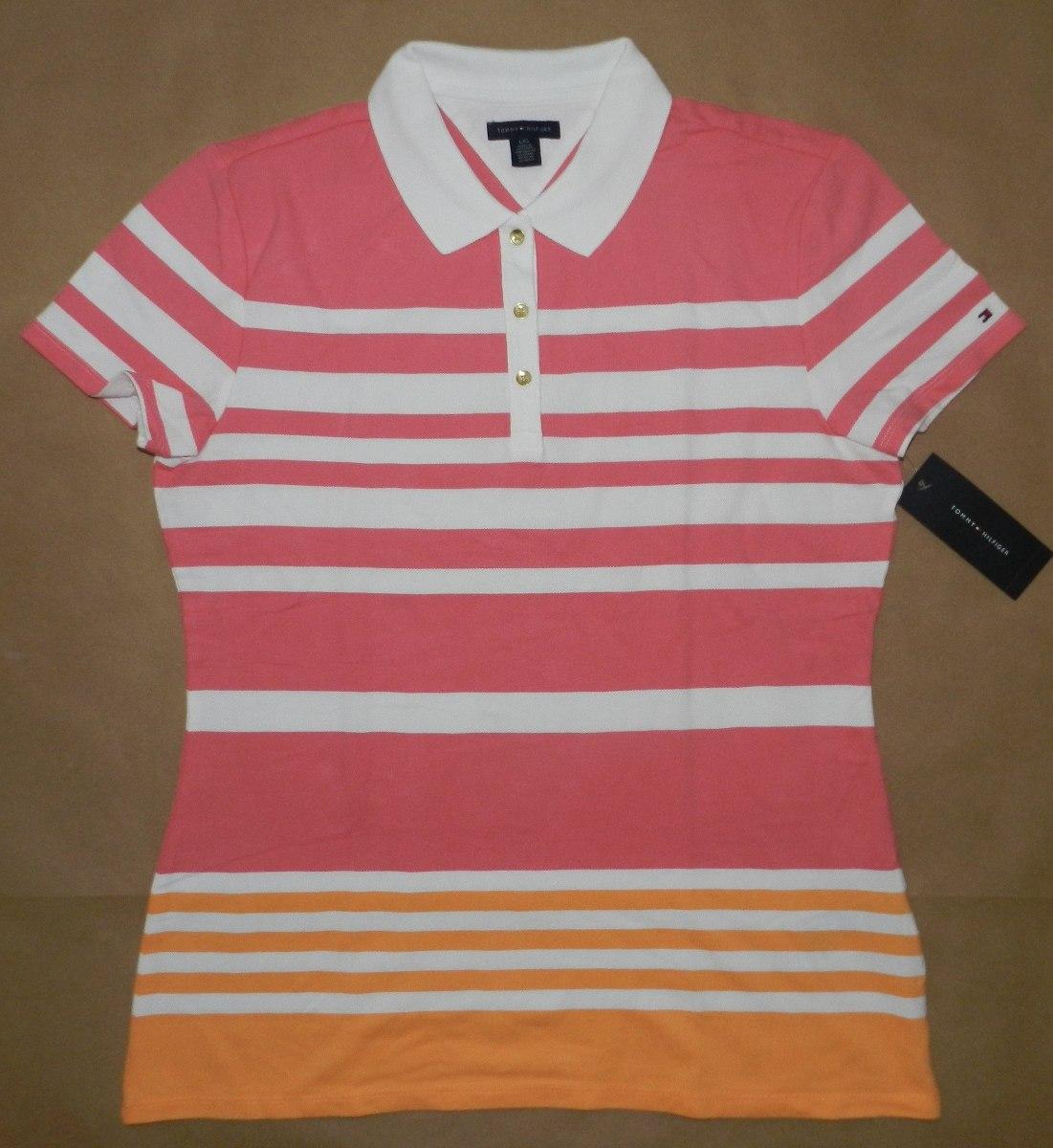 camisa gola polo feminina tommy hilfiger - tamanho g. Carregando zoom. ac1a4b62120db