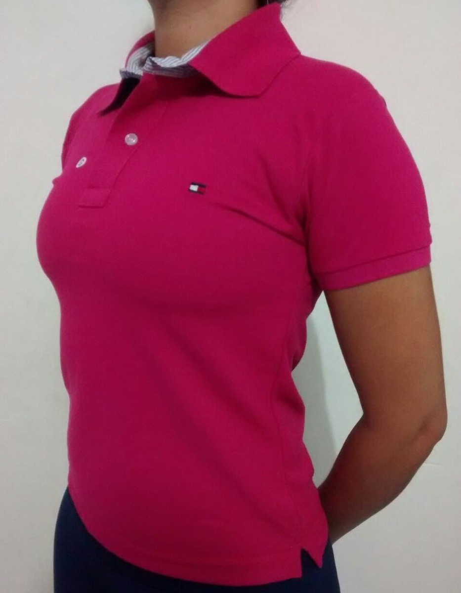 7f3f49b79e595 camisa gola polo feminina tommy hillfiger - a pronta entrega. Carregando  zoom.