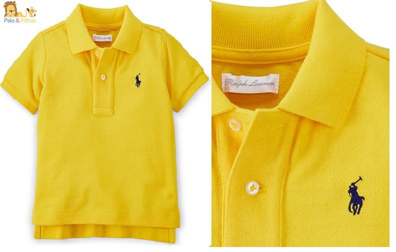 c1671ea70df46 Camisa Gola Polo Infantil Polo Ralph Lauren Original - R  155