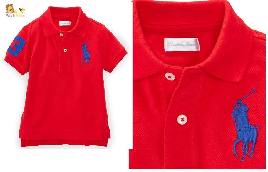 de8abf7c38cdf Camisa Gola Polo Infantil Polo Ralph Lauren Original - R  138