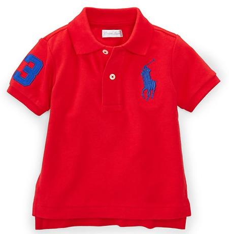 3ca16250bf Camisa Gola Polo Infantil Polo Ralph Lauren Original - R  138