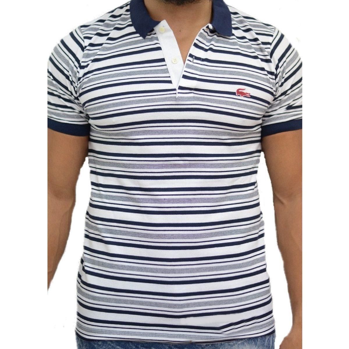 eb18fb1d44d3f Camisa Gola Polo Lacoste Emborrachada Serie Especial - R  139,97 em ...