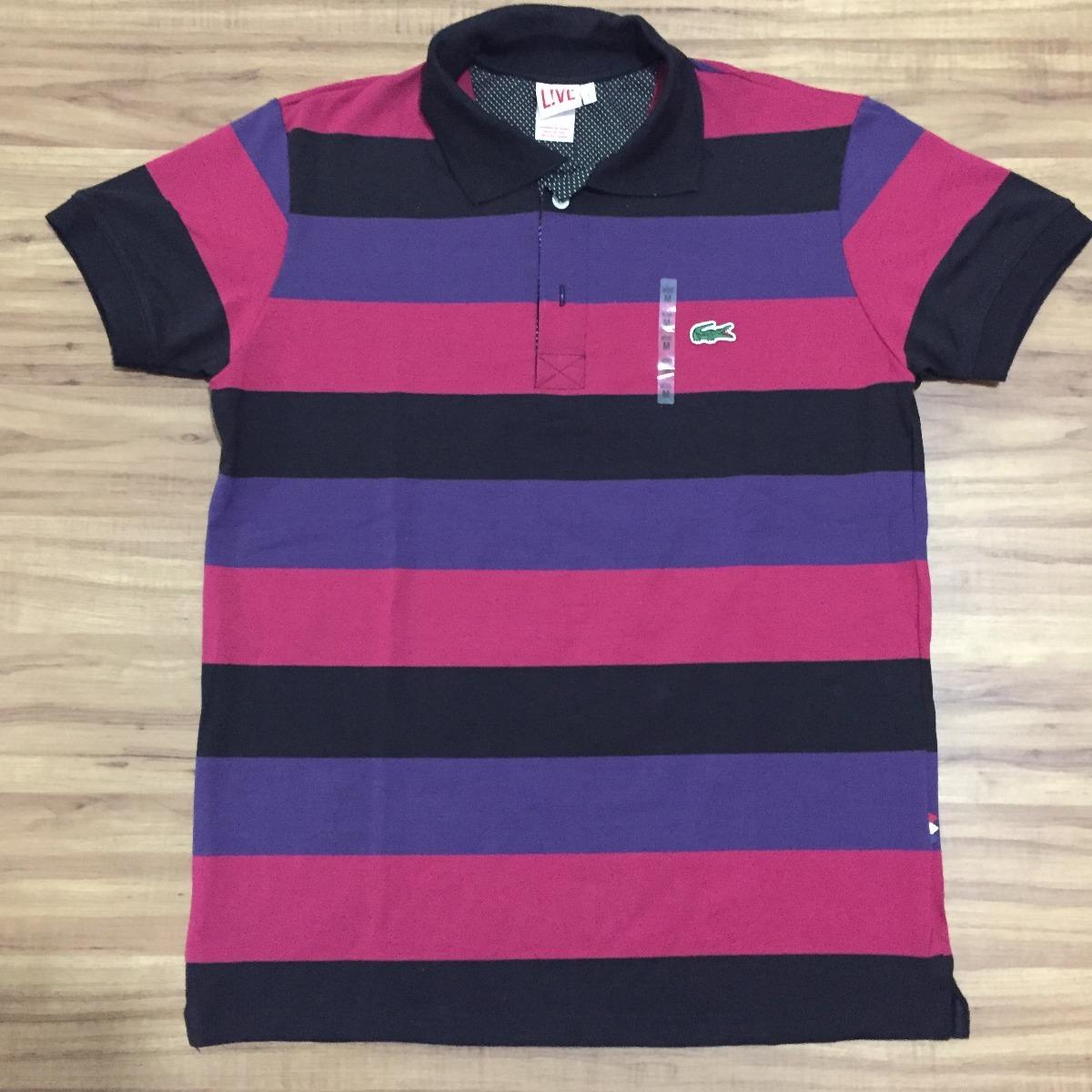 Camisa Gola Polo Lacoste Live 100% Original - R  89,90 em Mercado Livre a51805f702