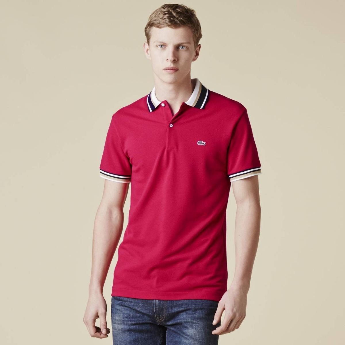 af38619a57a34 Camisa Gola Polo Lacoste Vermelha - R  280,00 em Mercado Livre