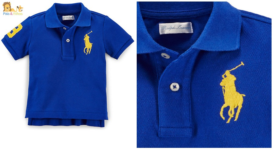 c98c984546 camisa gola polo ralph lauren bebê baby original. Carregando zoom.