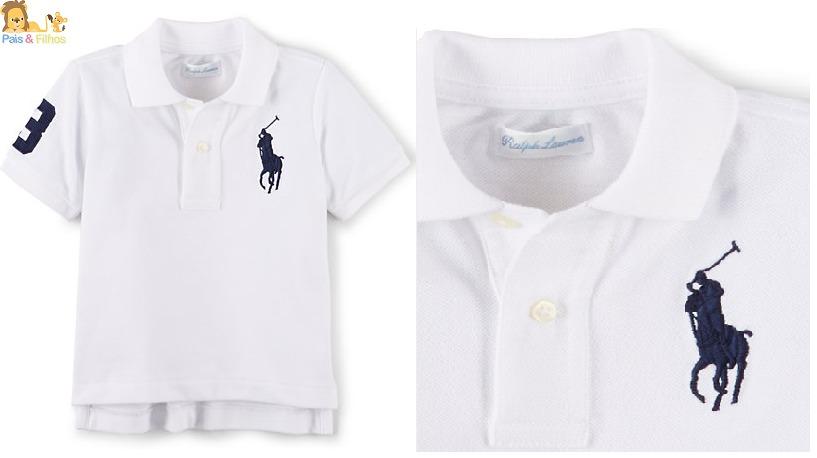 29ee0130cb Camisa Gola Polo Ralph Lauren Bebê baby Original - R  129
