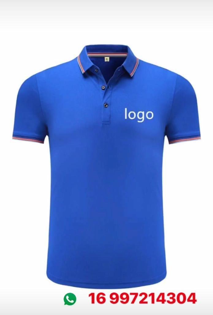 camisa gola polo uniforme bordado personalizado grátis. Carregando zoom. fa4972c3c7e
