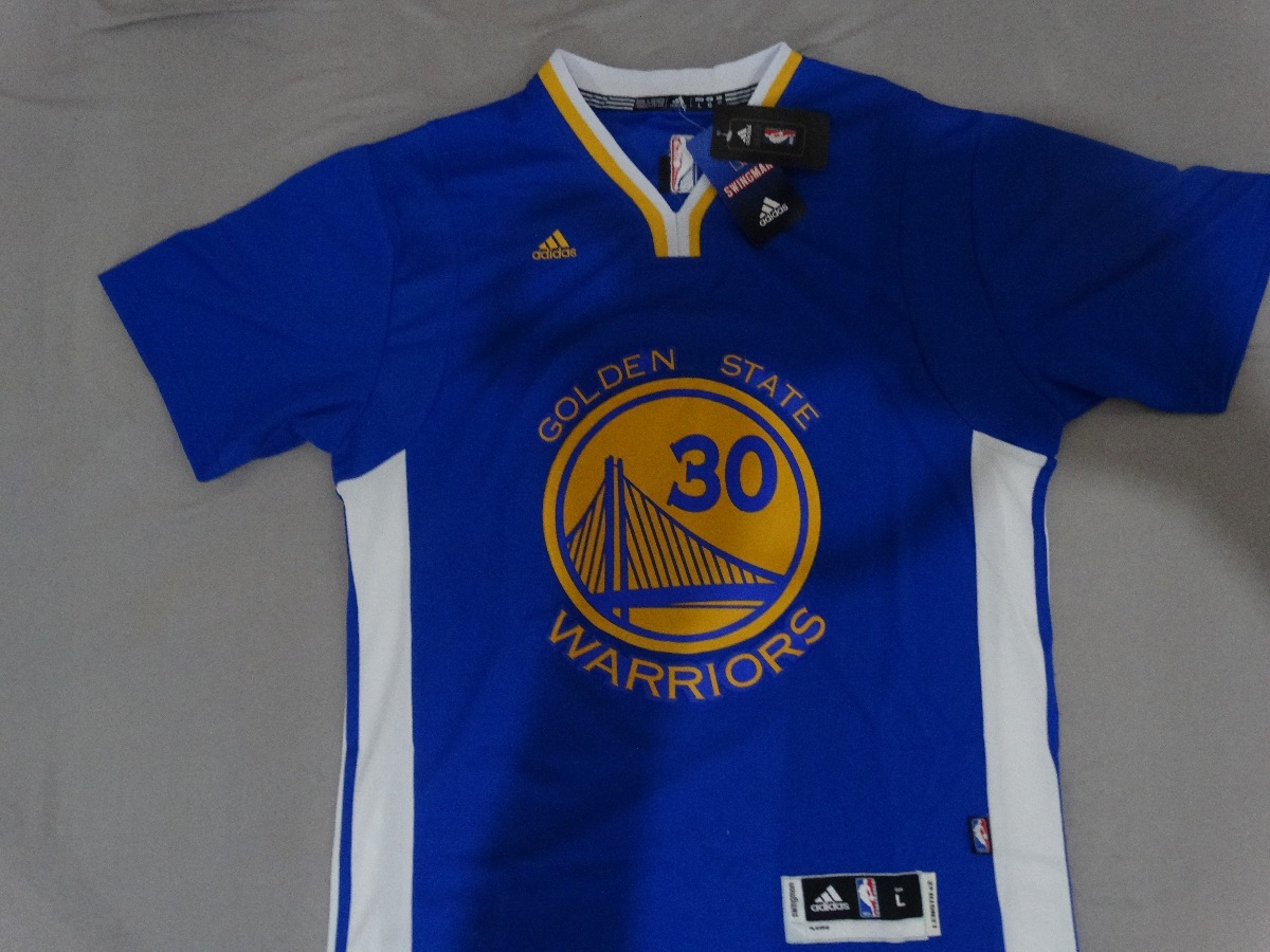 camisa golden state warriors stephen curry azul mangas. Carregando zoom. 9c90d083ba9