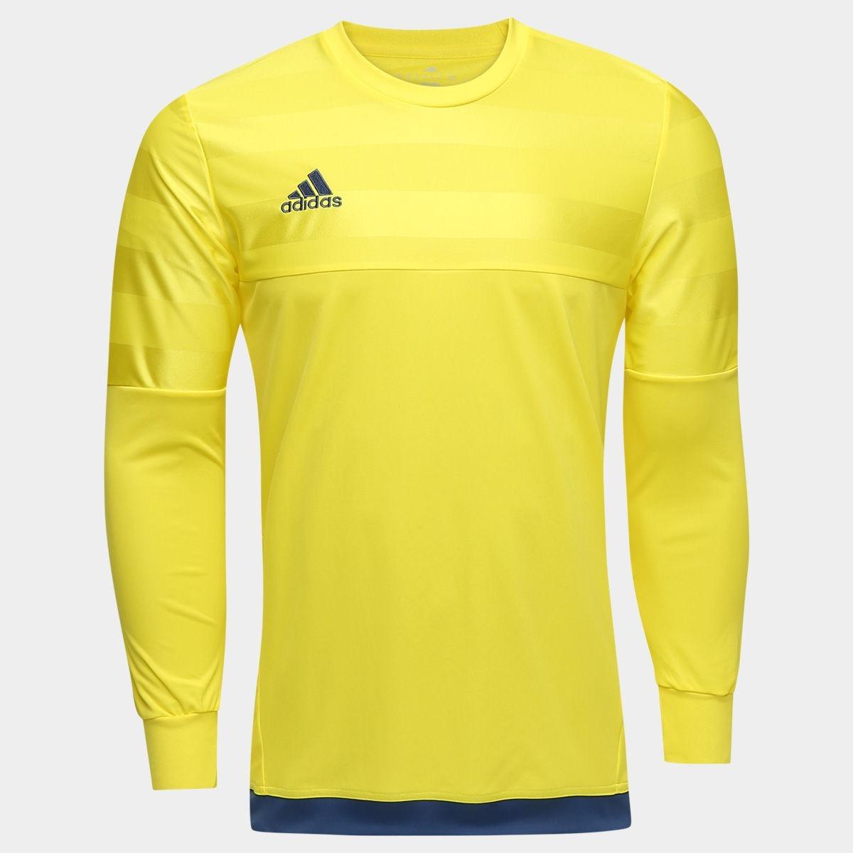 16d0e9edd43 camisa goleiro adidas manga longa entry 15 - amarelo. Carregando zoom.