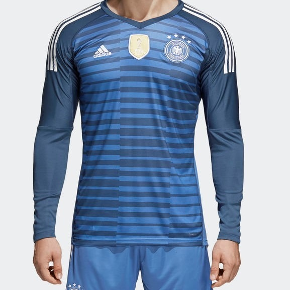 Camisa Goleiro Alemanha 2018 adidas Azul - R  249 36ee12608918a
