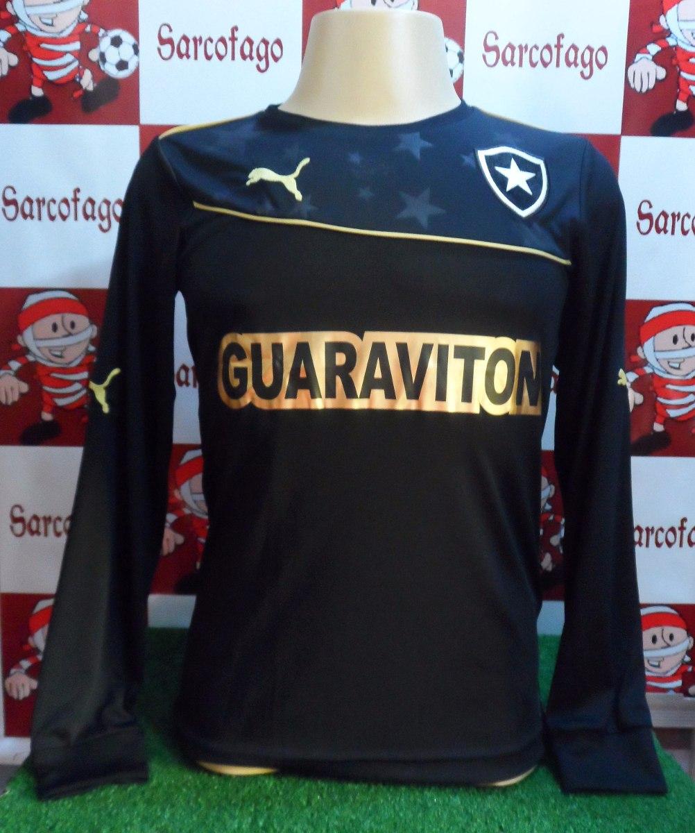 5630f2e86820d camisa goleiro botafogo preta puma oficial promoção. Carregando zoom.