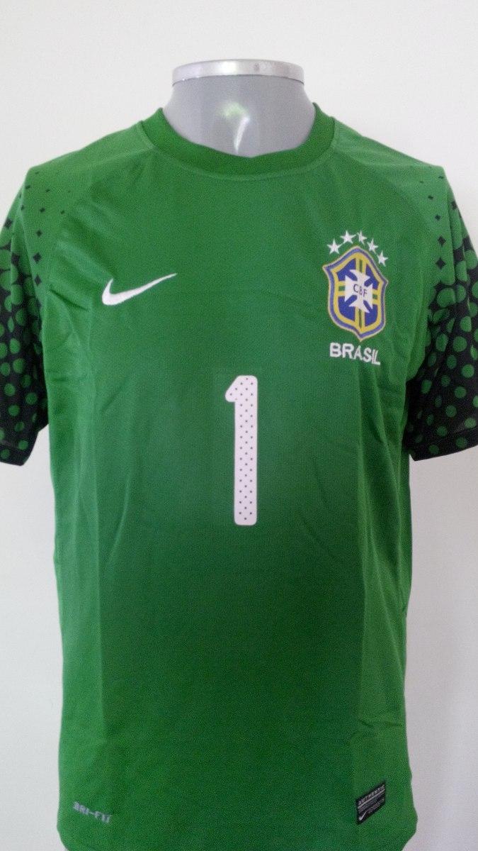 cc45cc9ae0aba Camisa Goleiro Da Seleção Brasileira - Frete Único De 15