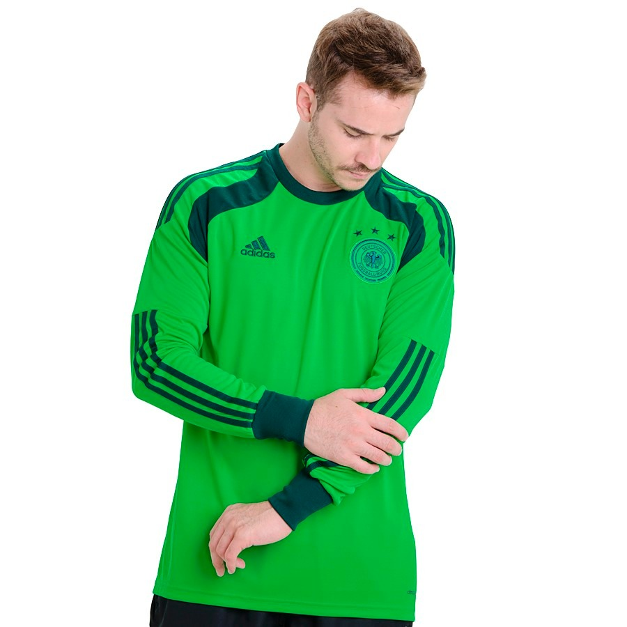 camisa goleiro estilo do neuer verde original adidas g. Carregando zoom. 8f765d3c6c266
