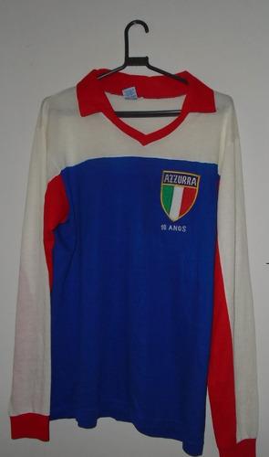 camisa goleiro itália azzurra campeã curitiba tamanho g raro