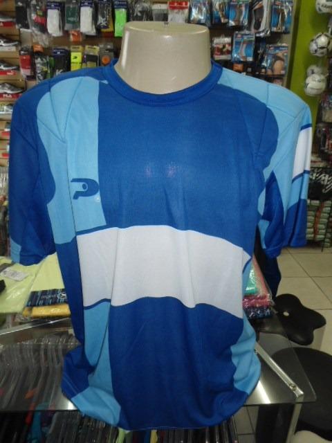 4f954c9dd1 Camisa Goleiro Placar Azul Tamanho G Acolchoamento Ombro - R  32