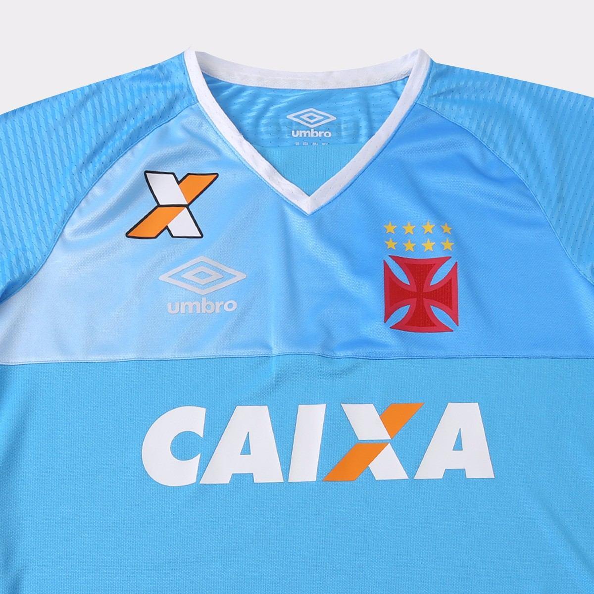 Camisa Goleiro Vasco Da Gama 2017 Umbro Azul Celest E Branca - R ... 0674788c2e074