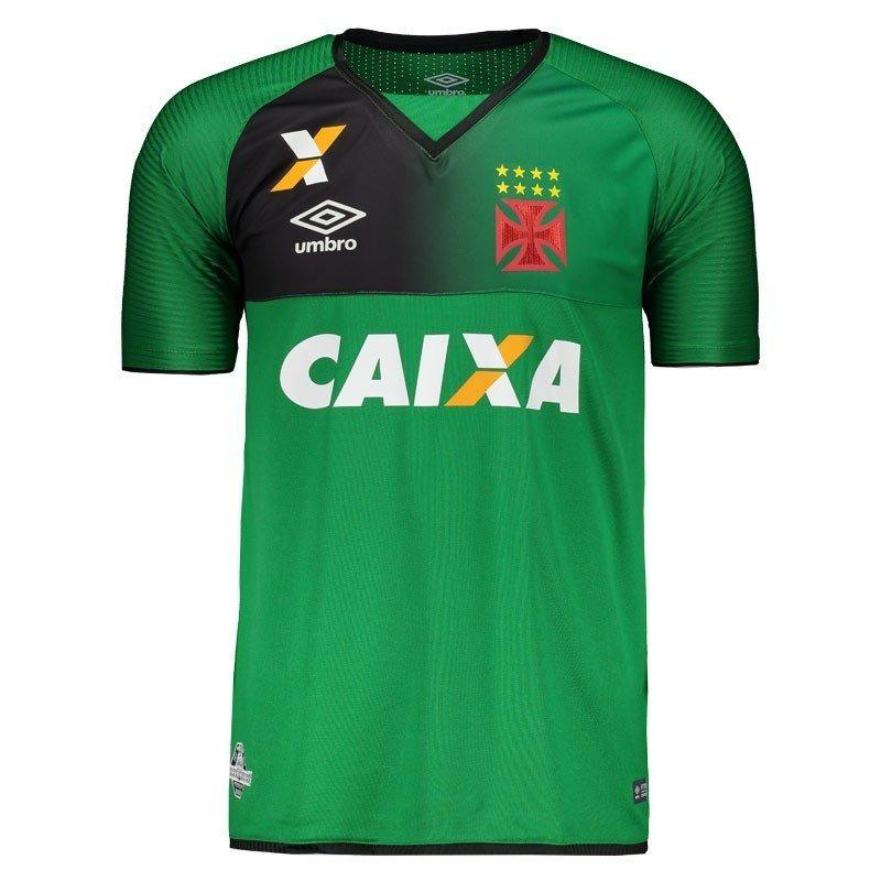 798e367f9b camisa goleiro vasco oficial umbro 2017   2018 verde preto. Carregando zoom.