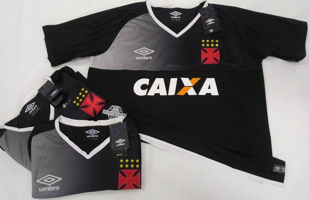 1dbafcd32e Camisa Goleiro Vasco Oficial Umbro Preta 2017 2018 N°1 Nova - R  178 ...