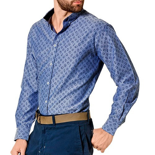 camisa gpn  pk2017002  azul caballero oi