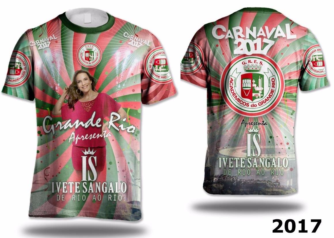 camisa grande rio 2017 - lançamento ivete sangalo. Carregando zoom. e5220d97c104f