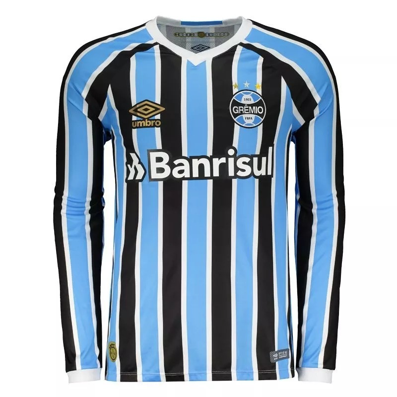 a862c149ef Camisa Gremio Manga Longa Oficial Umbro 2018 C  Nota Fiscal! - R ...