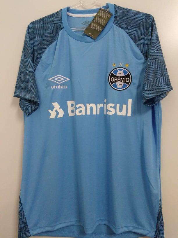 1d1a885ef3141 camisa gremio oficial umbro treino azul celeste 2018 2019. Carregando zoom.