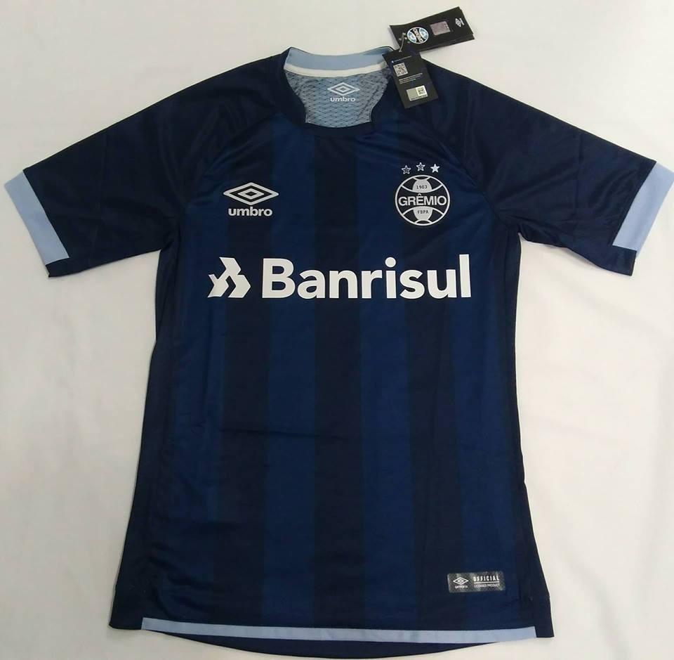 Camisa Gremio Oficial Uniforme 3 Umbro 2017 2018 N° 10 Azul - R  198 ... 5c8bca1f75b1a