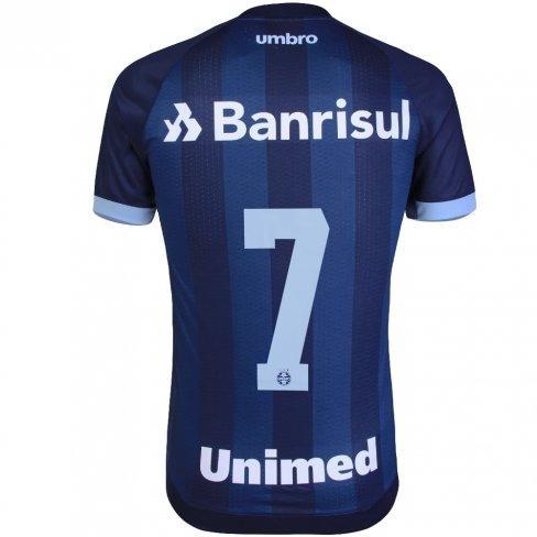 a8aca3ea7 Camisa Gremio Oficial Uniforme 3 Umbro 2017 2018 N° 7 Azul - R  199 ...