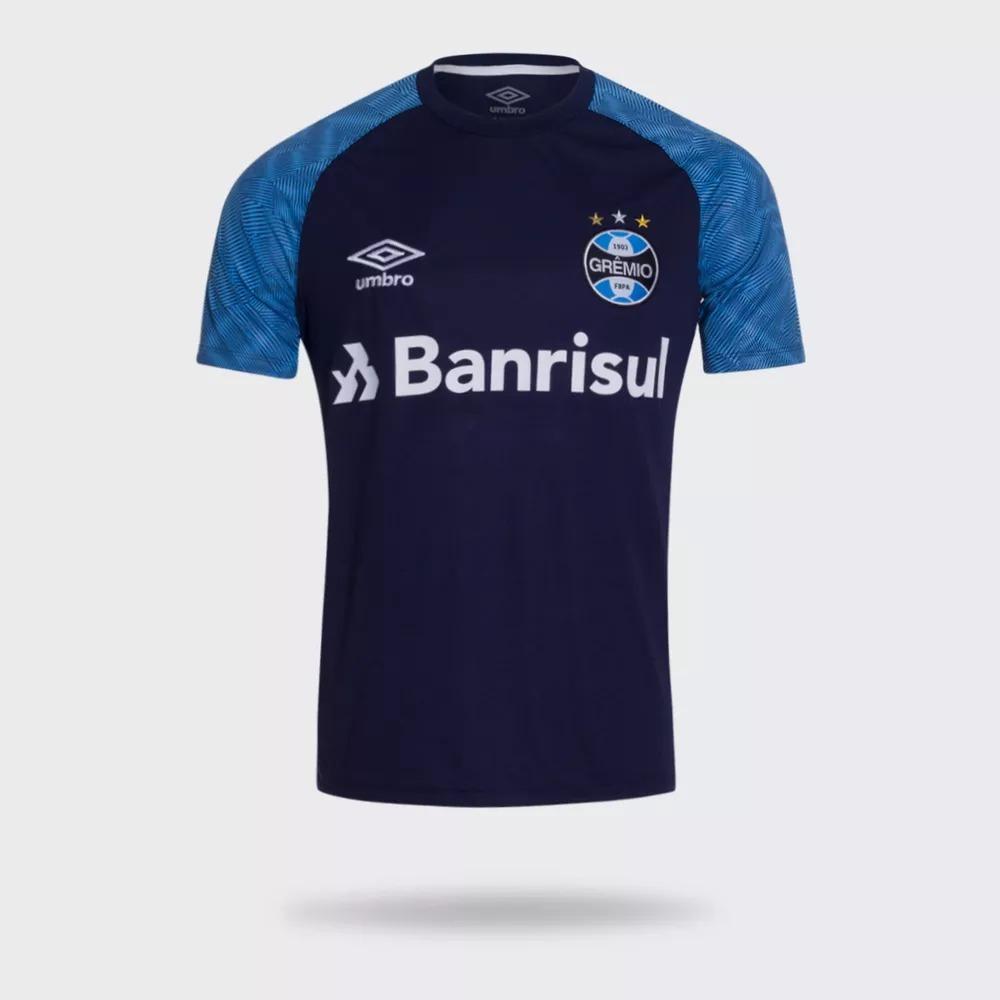 f774d3cc27 camisa gremio treino azul marinho oficial umbro 2018 2019. Carregando zoom.