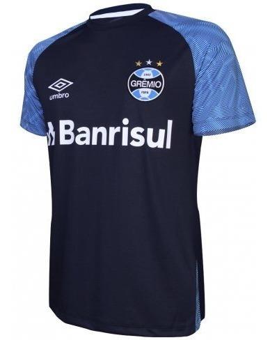 0bc85cf716 Camisa Gremio Treino Azul Marinho Oficial Umbro 2018 2019 - R$ 114 ...