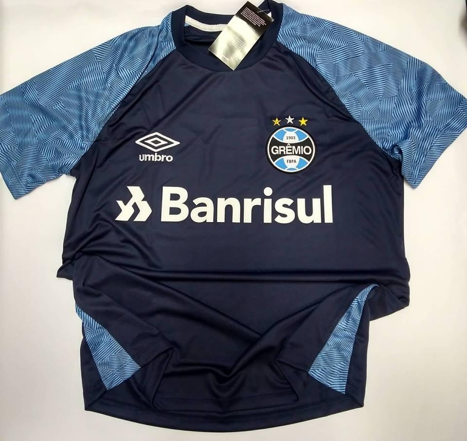 camisa gremio treino oficial umbro azul marinho 2018 2019. Carregando zoom. e344b5ccf71b1