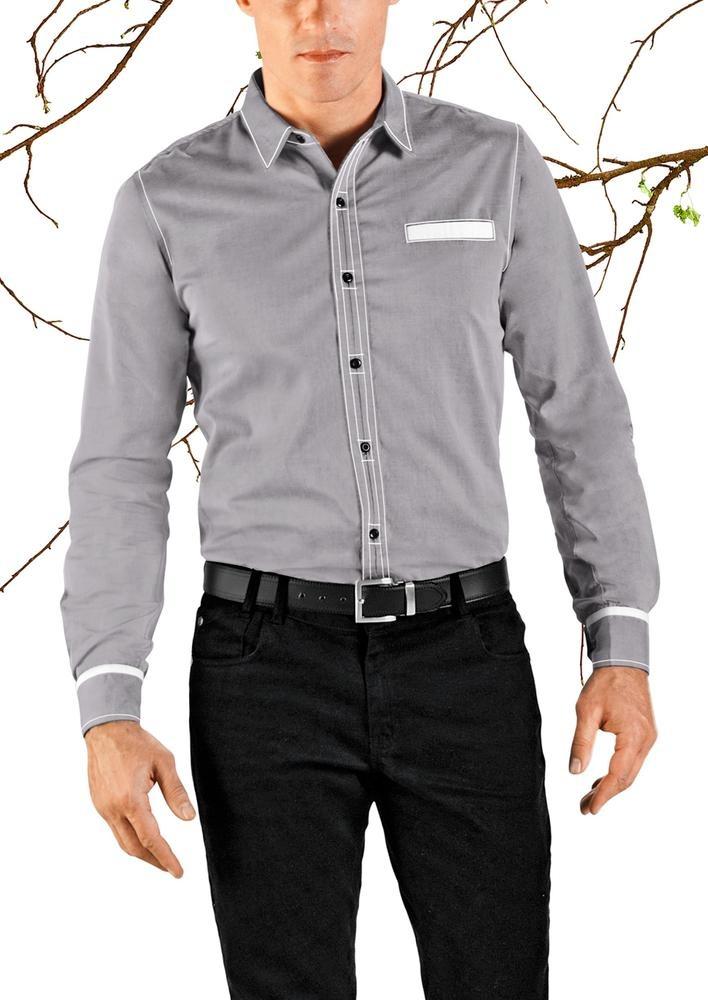 f1b66f9b3 Camisa Gris Hombre Andrea 1200690 -   472.90 en Mercado Libre