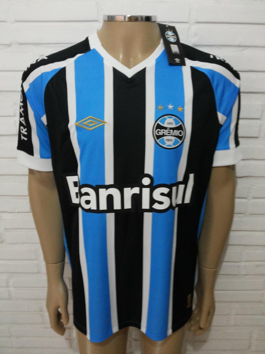 Camisa Grêmio 2015 Umbro Modelo Game Tricolor - Pronta Ent. - R  239 ... f4be17c6cba80
