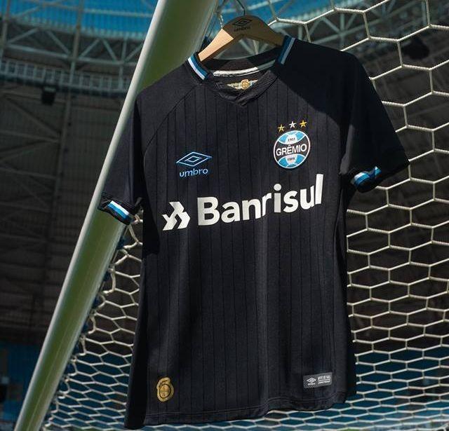 Camisa Grêmio 3 Umbro Oficial 2019 Original Com Número 10 - R  219 ... 1691e0c1392c2