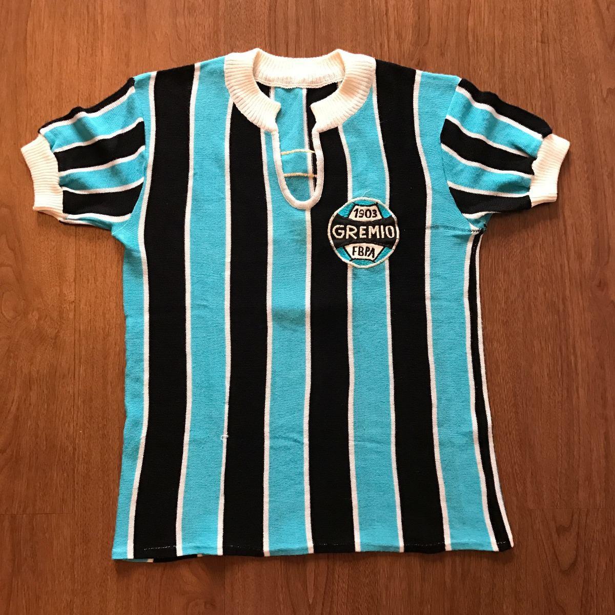 5ba2e65eb2d87 Camisa Grêmio Antiga  5 Fim Dos Anos 70 Começo Dos 80 Malha - R  475 ...