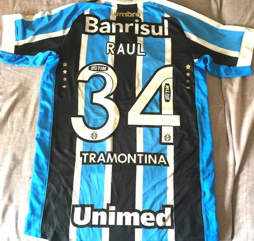 Camisa Grêmio Brasileirão 2015 De Jogo Uniforme 1 - R  399 9d03b842f2bc7