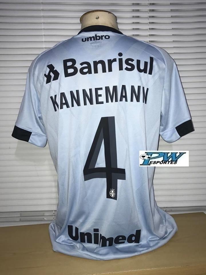 50de55dc85 Camisa Grêmio Celeste Libertadores 2017 Game  4 Kannemann - R  349 ...