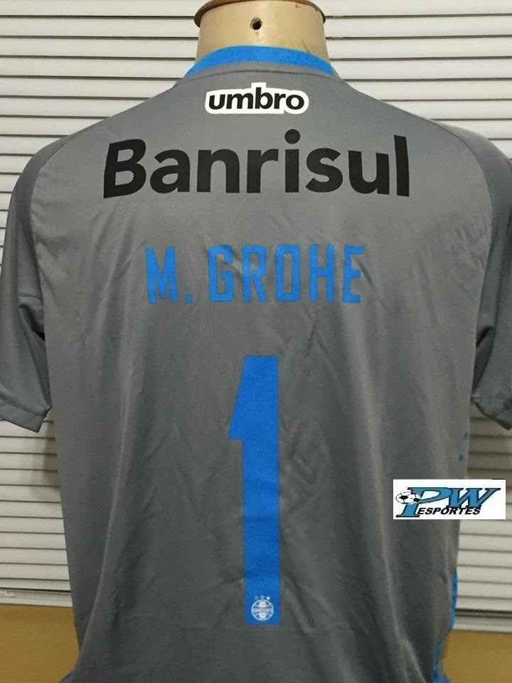 b251a88be4ea3 camisa grêmio cinza umbro 2016 do goleiro  1 grohe. Carregando zoom.