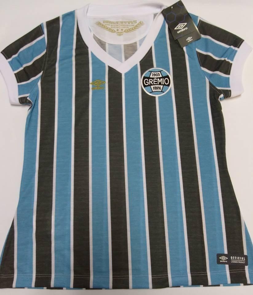 camisa grêmio feminina retrô 1983 mundial oficial umbro 2018. Carregando  zoom. 46a53efa3114f
