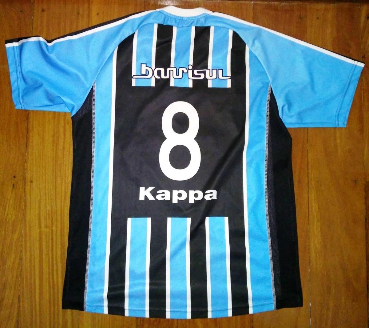 806d6f2a3ab40 camisa grêmio kappa 2004 tricolor tamanho g número 8. Carregando zoom.