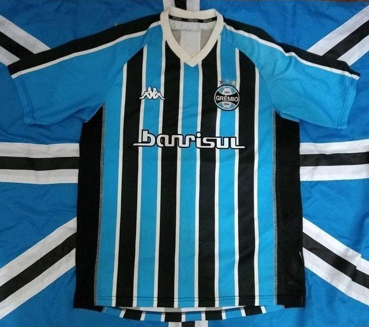 ae5879f5b1325 Camisa Grêmio Kappa 2004 Tricolor Tamanho G Número 8 George - R  700 ...