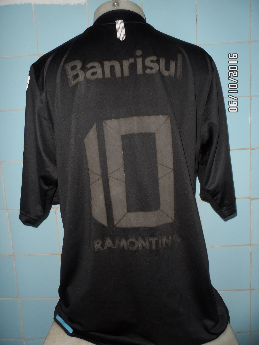 camisa grêmio preta n 10. Carregando zoom. f21cb21510501