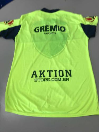 Camisa Grêmio Prudente Treino 2015 - R  29 99420f0d9e286
