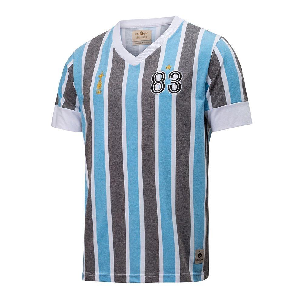 camisa grêmio retrô gol réplica 83 libertadores. Carregando zoom. 503764e2ebfa0