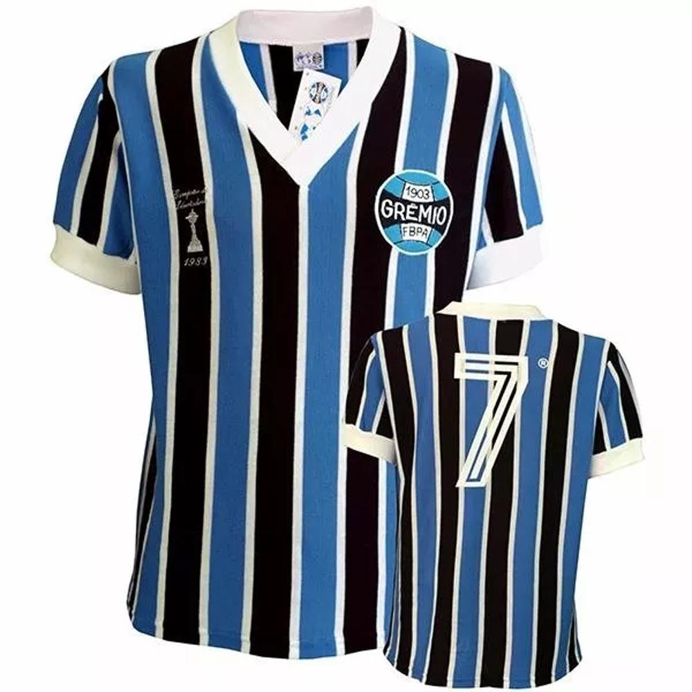 camisa grêmio retro campeão libertadores 83 malha. Carregando zoom. d6cc002d4f5f2